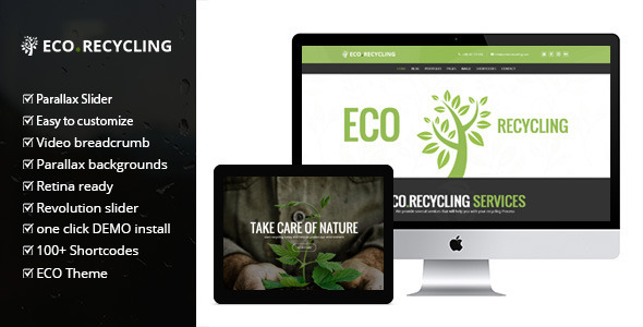 Download Eco Recycling - Ecology & Nature WordPress Theme Green WordPress Themes