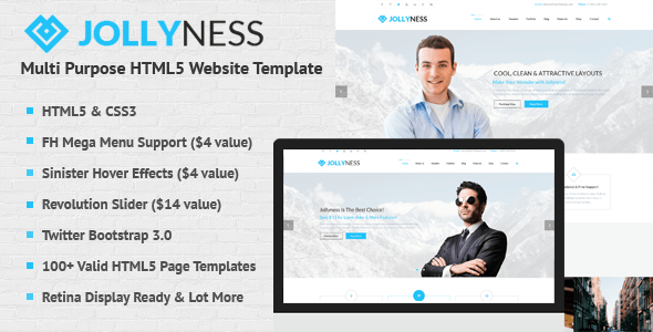 Download Jollyness - Multi Purpose HTML5 Website Template Pink Html Templates