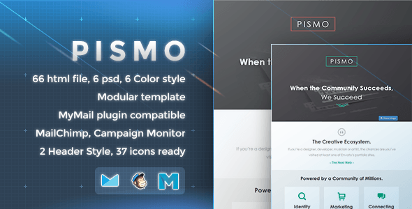 Download Pismo - Responsive Email Template Yellow Html Templates