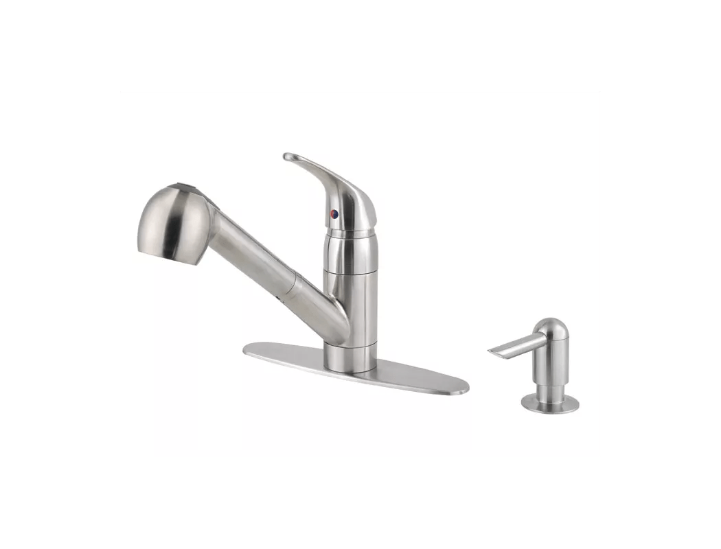 Joyous Pfister Stainless Steel Classic Pullout Spray Professional Kitchenfaucet Soap Dispenser Pfister Stainless Steel Classic Pullout Spray Pfister Kitchen Faucets Canton Pfister Kitchen Faucets Slat houzz-03 Pfister Kitchen Faucets