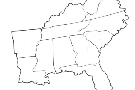 gallery for > southeast states blank map