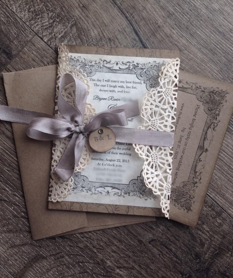 where to order rustic wedding invitations rustic wedding invitation Henley Rustic Kraft Wedding Stationery Set By Megan Claire