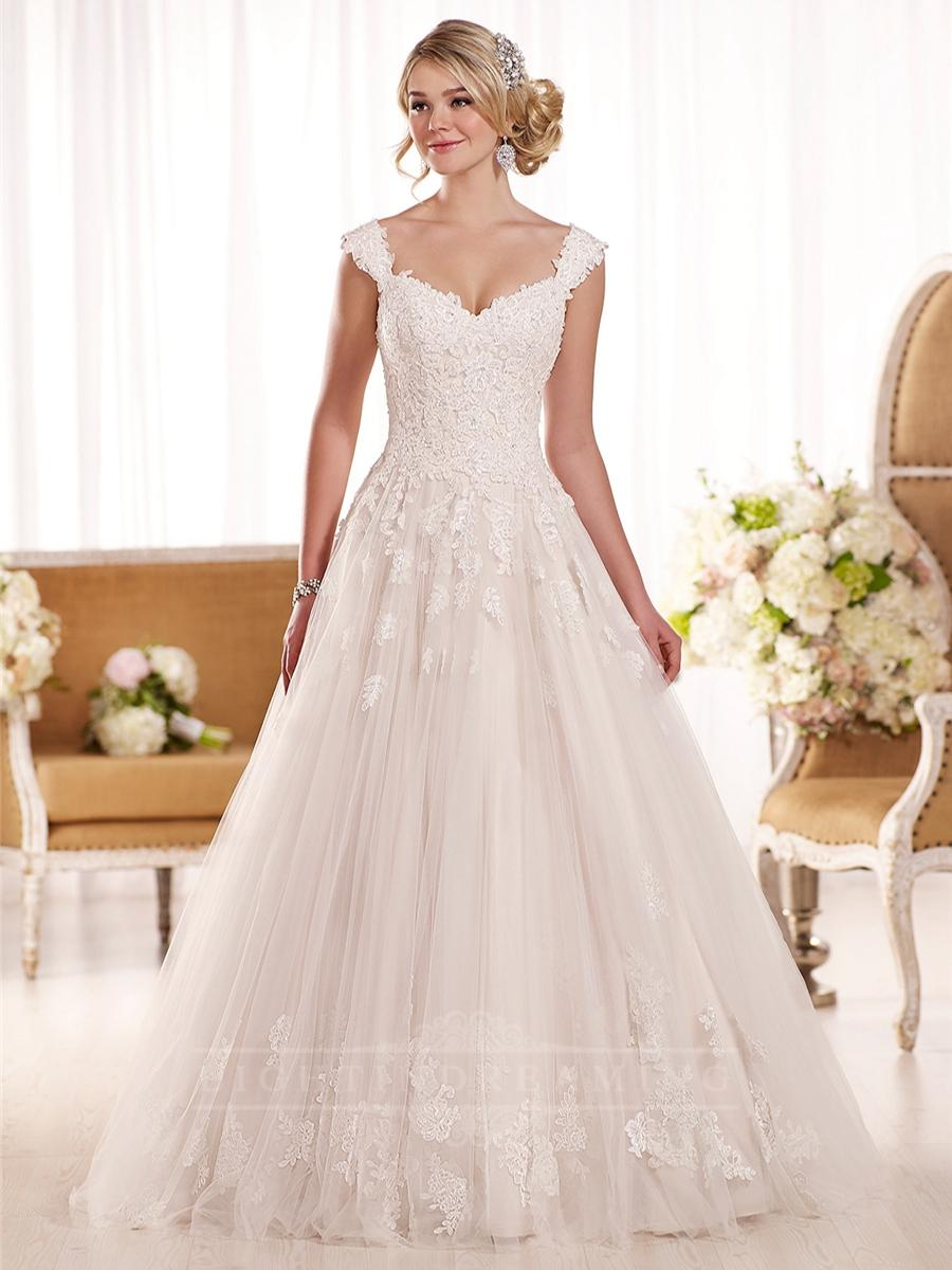 cap sleeves a line lace wedding dress lightindreamingcom wedding dress cap sleeves Cap Sleeves A line Lace Wedding Dress LightIndreaming com