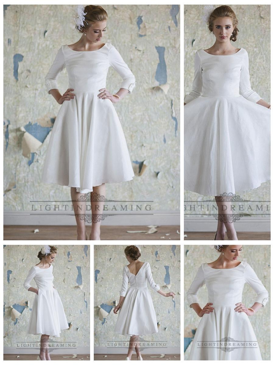 vintage s tea length wedding dresses t length wedding dresses Vintage S Tea Length Wedding Dresses 77