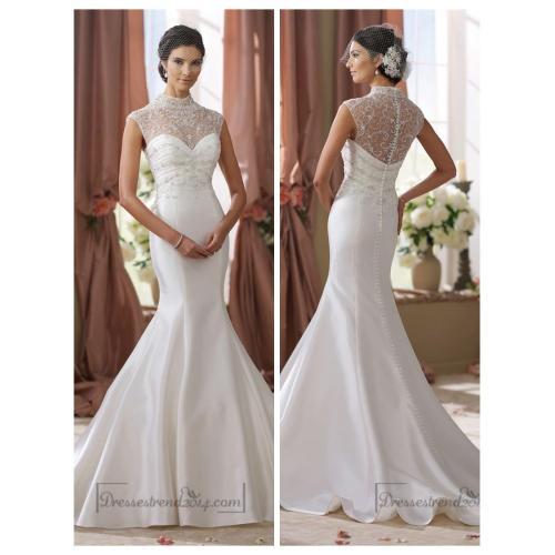 Medium Crop Of Illusion Wedding Dresses