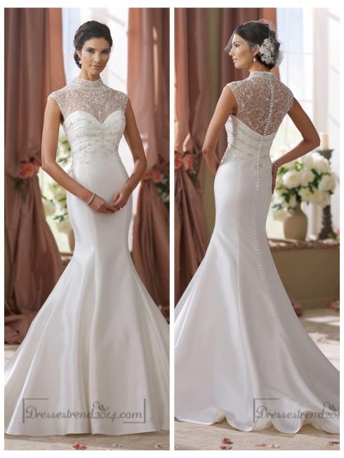 Medium Of Illusion Wedding Dresses