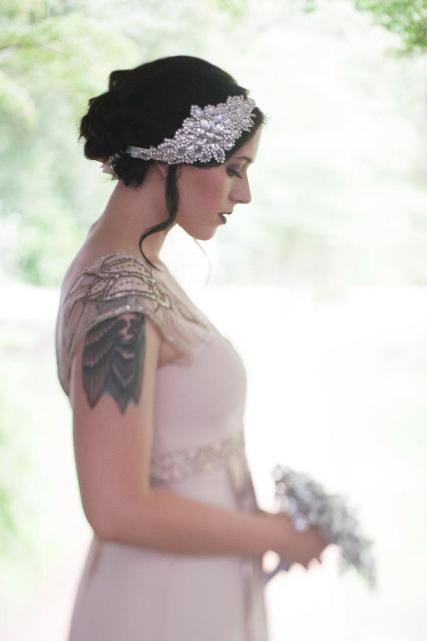 ti wedding headpiece Pearl Wedding Headband