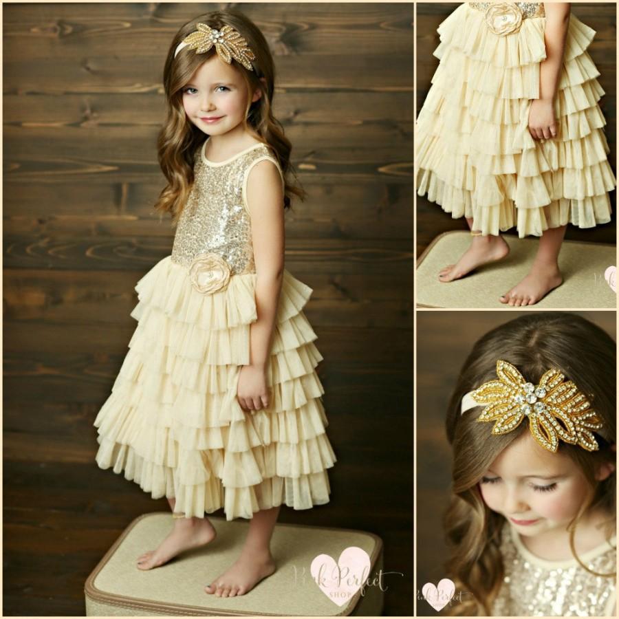 Fullsize Of Gold Flower Girl Dresses