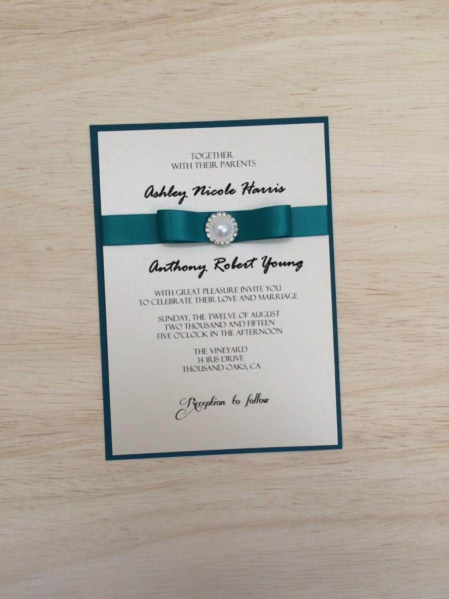 romantic ribbon wedding invitations in dusty blue wedding invitations with ribbon Modern Calligraphy Silk Ribbon Wedding Invitations in dusty blue