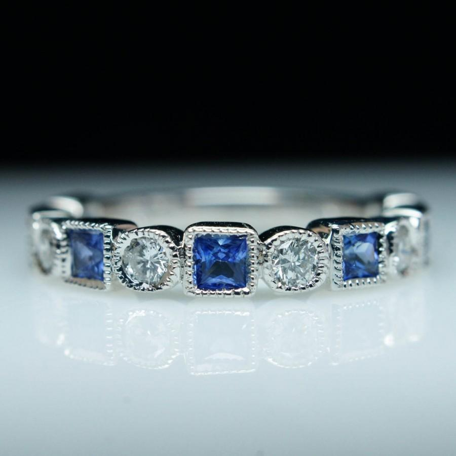 thin comes diamond sapphire wedding bands sapphire wedding bands Black Diamond Band in between White Diamond Bands