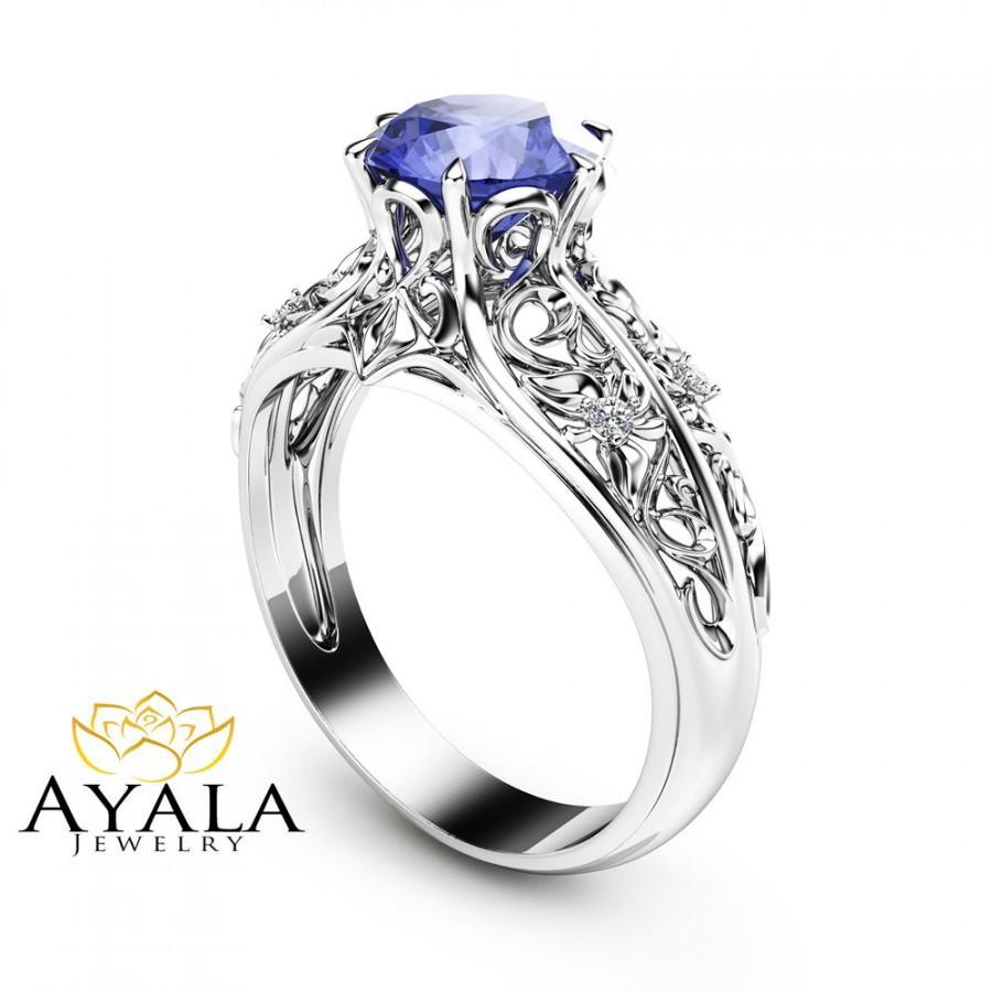 tanzanite rings tanzanite wedding rings Tanzanite Ring Rose Gold Engagement Ring Lavender Mint Tanzanite cushion cut halo engagement ring 14k rose gold