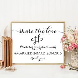 Fantastic Wedding Hashtag Sign Wedding Hashtag Printable Hashtag Template Share Love Wedding Template Weddings 4x6 5x7 8x10 Wbwd3 Wedding Hashtag Sign Wood Instagram Wedding Hashtag Sign