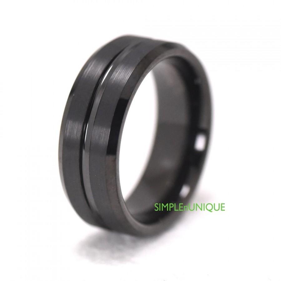 unique mens tungsten wave ring engagement wedding band 8mm tungsten wedding band Home Rings Tungsten