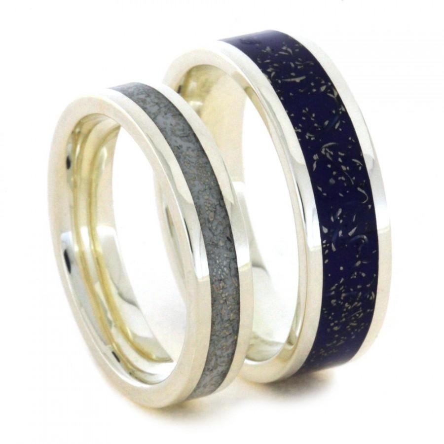 matching blue titanium wedding band set stb5 matching wedding band sets matching blue titanium wedding band set stb5 Titanium Wedding and Engagement Rings