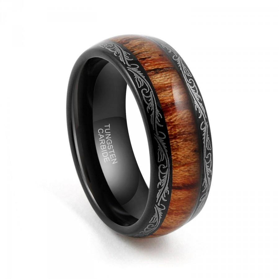 black mens wedding rings Black and blue Carbon Fiber Tungsten Ring Blue Diamond Mens jewelry Wedding Band eBay