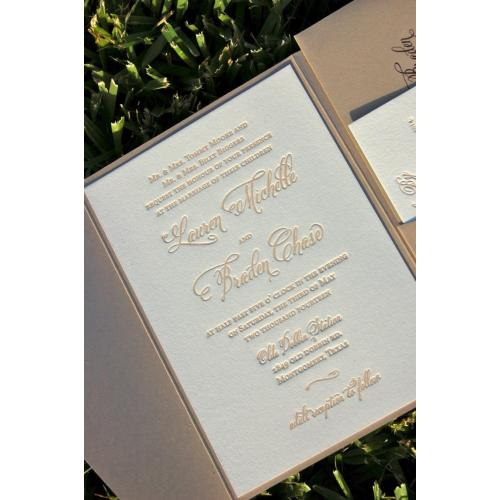 Medium Crop Of Letterpress Wedding Invitations