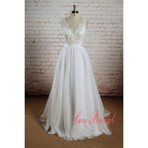 Startling Sheerback Sleeveless Wedding Gown Beading Bodice Wedding Dress Tulle Skirt Bridal Gown Beading Bodice Wedding Dress Tulle Skirt Bridal Gown