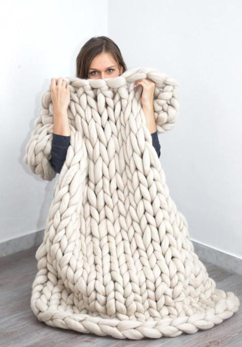 Medium Of Merino Wool Blanket
