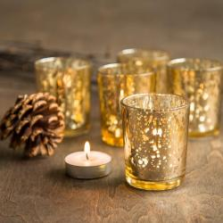Small Crop Of Mercury Glass Candle Holders