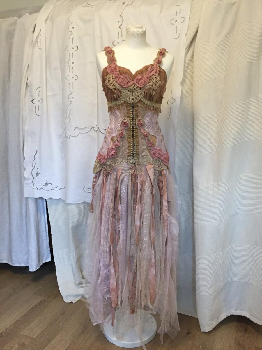 Riveting Rosescolorful Wedding Dressforrest Wedding Dressbeach Wed Rose G Colored Wedding Dresses Rose Coloured Lace Wedding Dress Fairy Wedding Dress Elven Wedding Dressereal Weddingbohemian Wedding wedding dress Rose Coloured Wedding Dresses