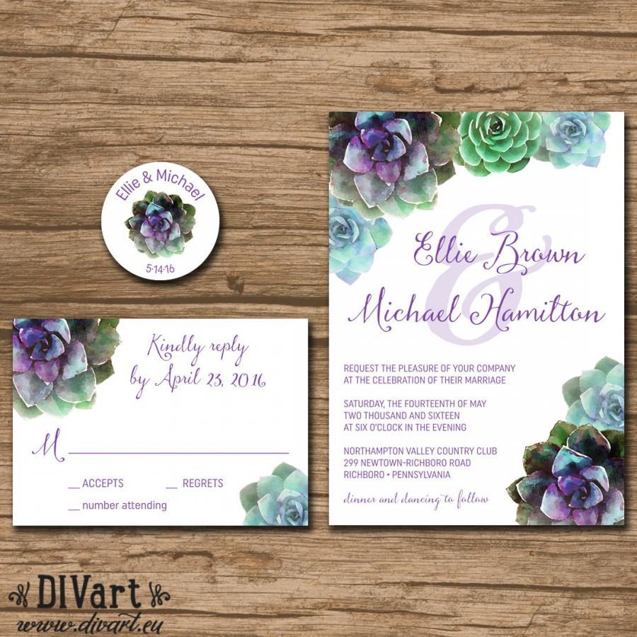 blush succulent wedding invitations succulent wedding invitations Blush Succulent Wedding Invitations