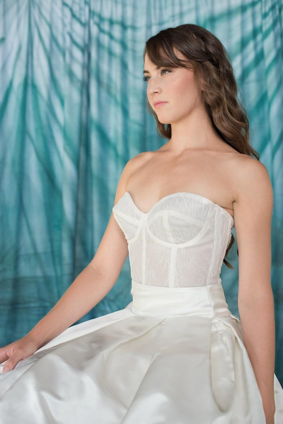 unique wedding dresses wedding dress corset top Two piece wedding dress buy corset top and skirt separate watterswtoo Ann Corset B