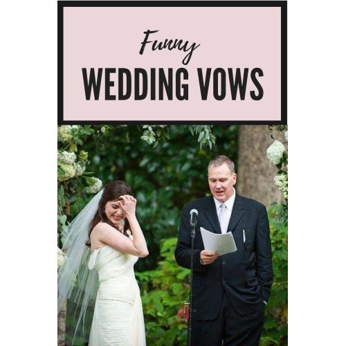 Medium Crop Of Funny Wedding Vows