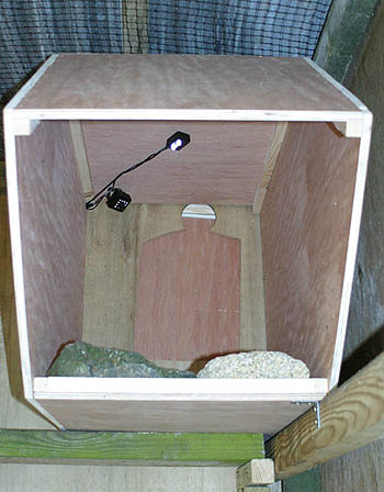 Chough nest box with camera & lights