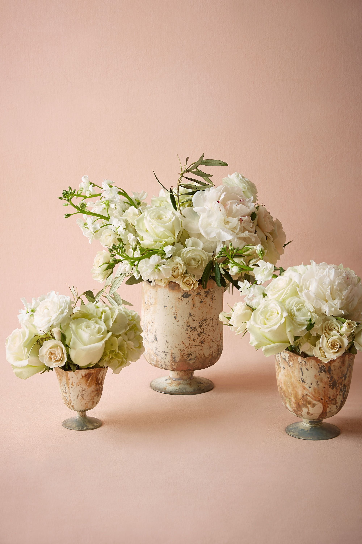marbled footed vase wedding vases White Marble Marbled Footed Vase BHLDN