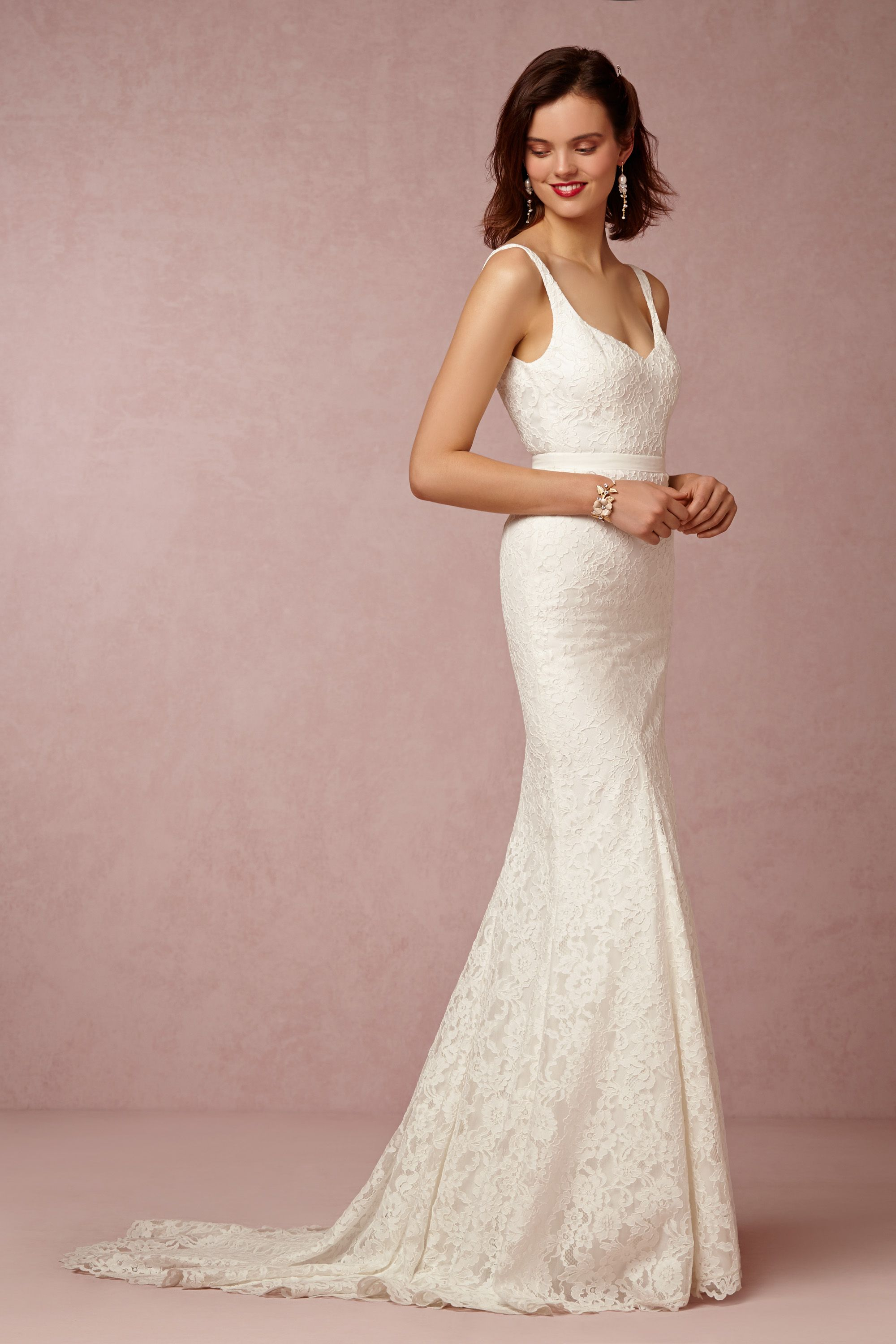 janey gown wedding dress on sale Nicole Miller Ivory Janey Gown BHLDN