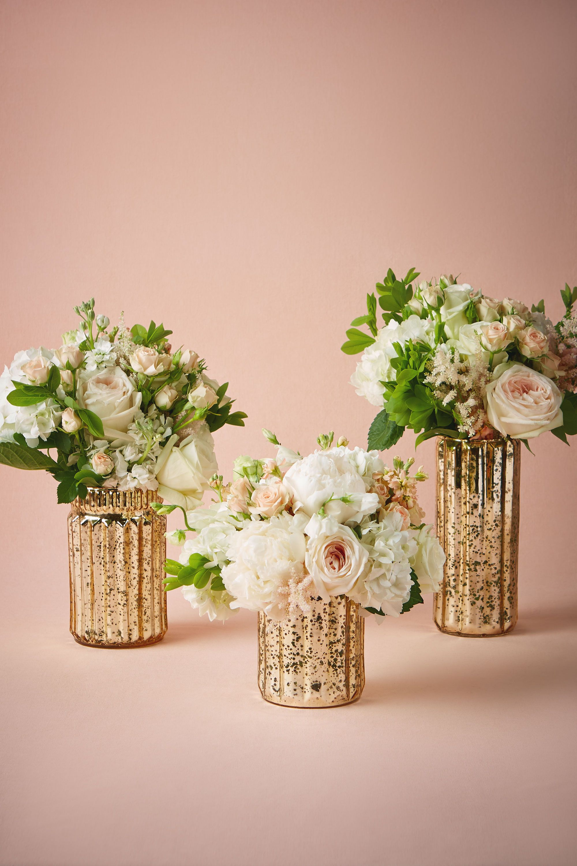 shop decor centerpieces wedding vases Fluted Mercury Vases