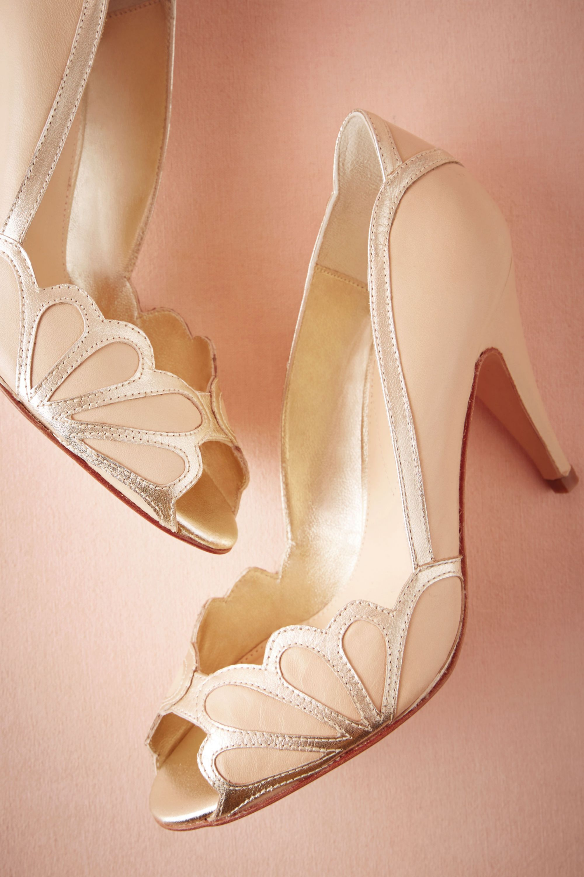 shoes view all blush wedding shoes Isabella Scalloped Heel
