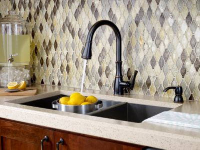 ct:r price pfister kitchen faucet Tuscan Bronze Wheaton 1 Handle Pull Down Kitchen Faucet F