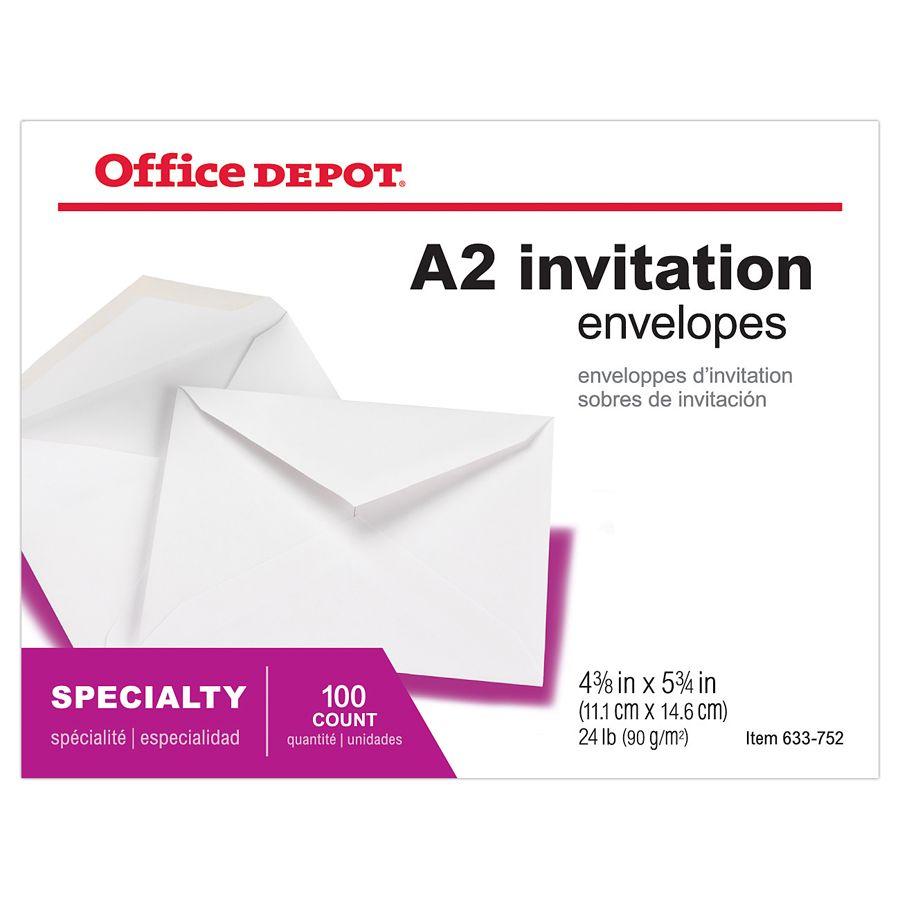 Office Depot Brand Invitation Envelopes 4 office depot wedding invitations Office Depot Brand Invitation Envelopes 4 38 5 34 White Pack Of by Office Depot OfficeMax