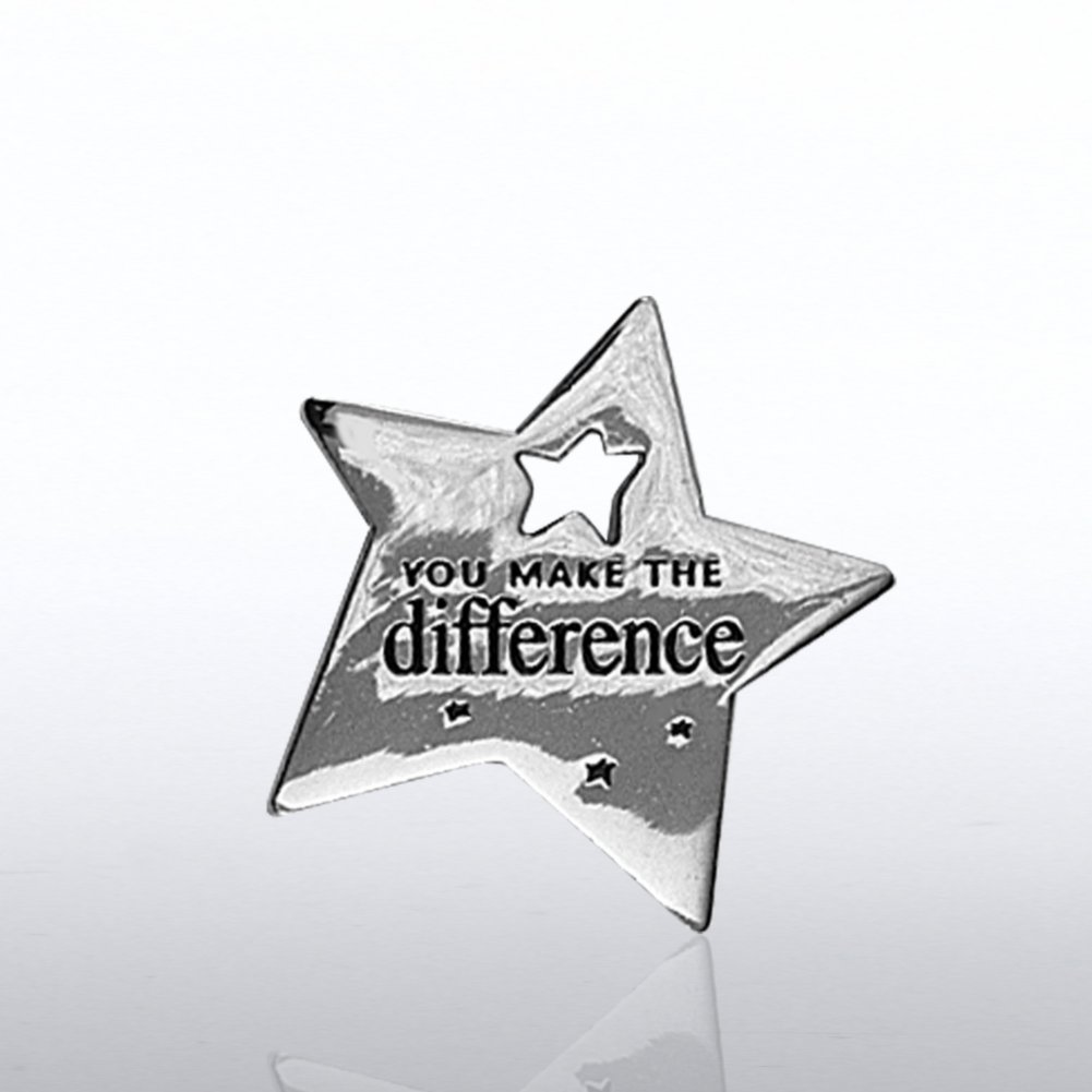 Baudville com Lapel Pin   Milestone   You Make the Difference Star