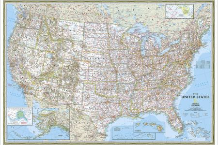 us wall maps laminated us map posters | national