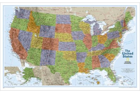 united states clic wall map national geographic store