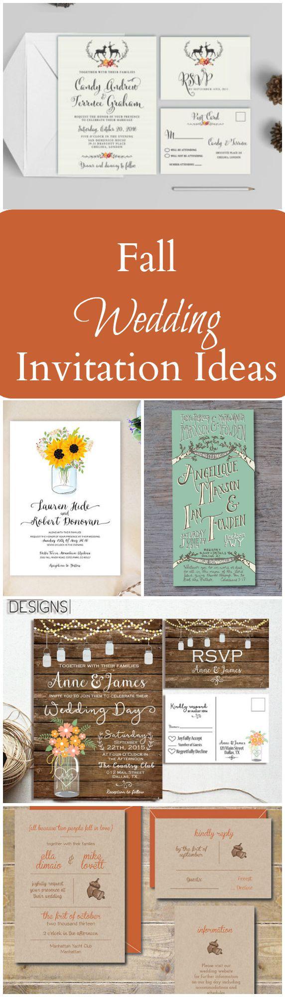 Large Of Fall Wedding Invitations