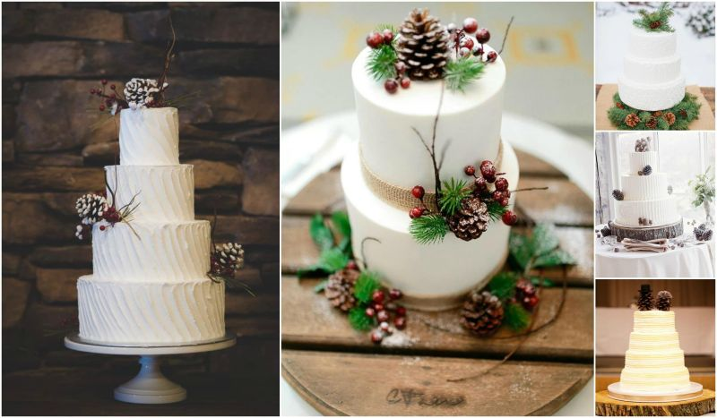 Large Of Rustic Wedding Cake