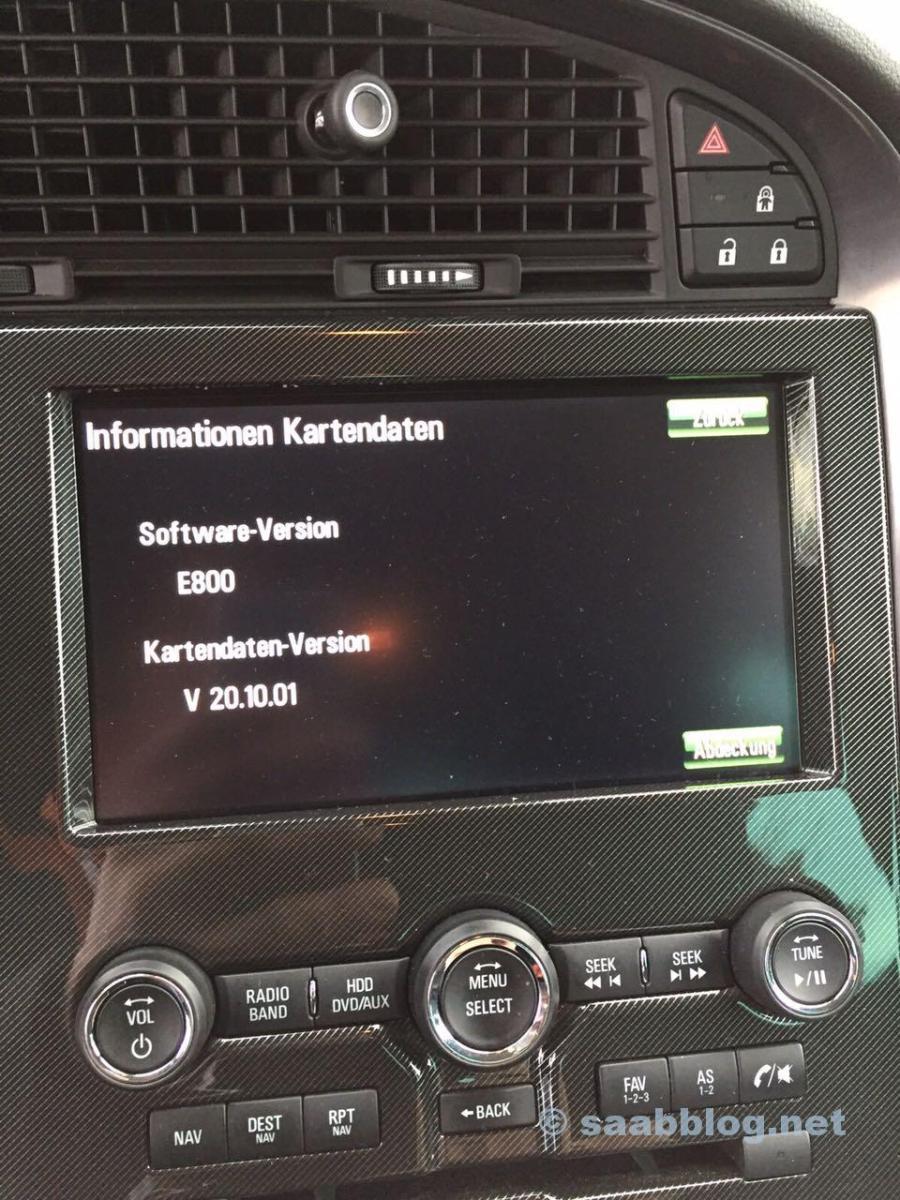 Firmware Update E800 Saab 9-5 NG
