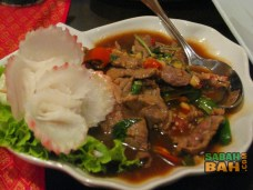 Mai Yai Thai Orchid Restaurant's spicy beef