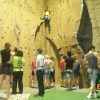 Professional equipment and guides ensure the safety of visitors to the climbing wall