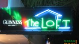 Neon sign of The Loft at Kota Kinabalu's Waterfront