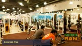 Weight machines and free-weights at the 1Fitness gym in Kota Kinabalu