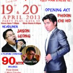 A Flood of Standup Comedy in Kota Kinabalu in April