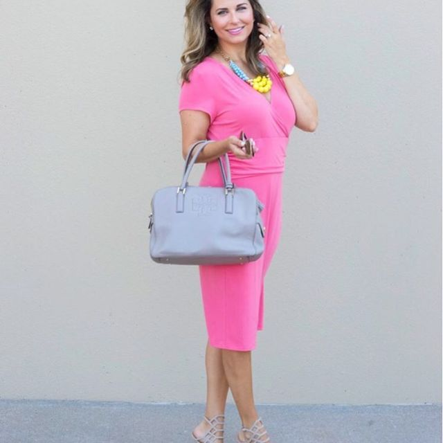 The most perfect pink faux wrap dress from elliekai ishellip
