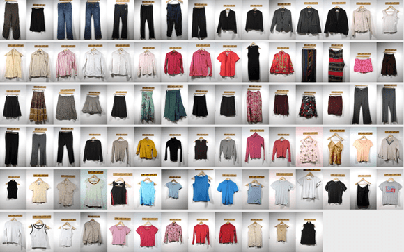 Thumbnails of clothes