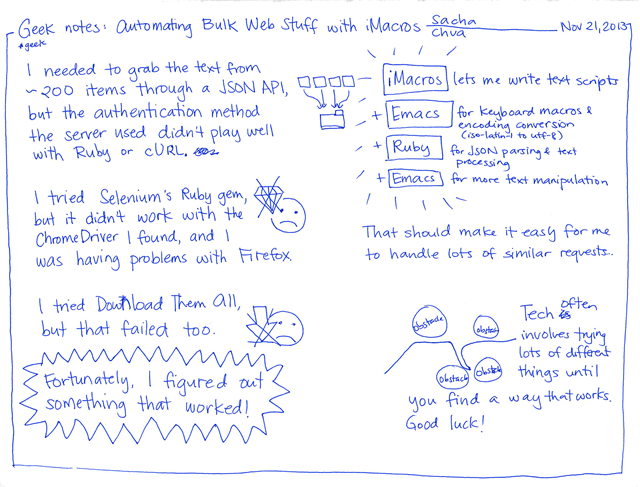 2013-11-21 Geek notes - automating bulk web stuff with iMacros