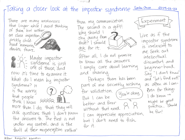 Taking a closer look at the impostor syndrome