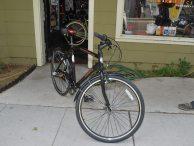 A Bianchi Milano bicycle.